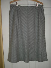 "Size 8, English Gray wool skirt, 31"" waist, Marks & Spencer, Fully Lined, EUC"