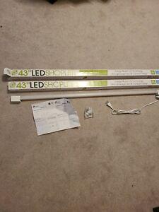 "2 of the Greenlite LED Shop Light 2000 Lumen 18 Watts cord 4000K Cool White 43"""