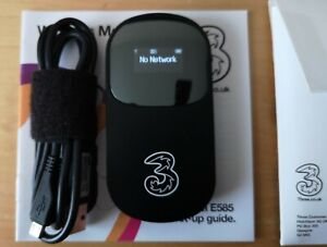 Huawei E585 3G Wireless Modem Mobile Wifi Hotspot Router 'Unlocked' with '3'