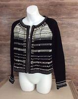 Nanette Lepore Womens Structured Cardigan / Blazer Jacket sz Medium Embellished