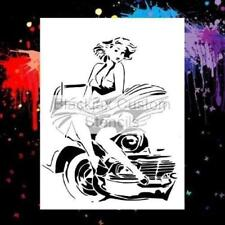 Pin Up Girl 2  Airbrush Stencil,Template