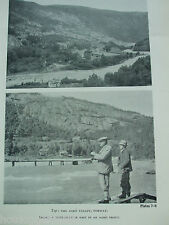 ANTIQUE PRINT DATED C1940S PICTURE THE AARG VALLEY NORWAY TROUT FLY FISHING