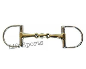 D Ring Snaffle Bit Horse Riding Double Jointed Lozenge Fat Stainless Steel New