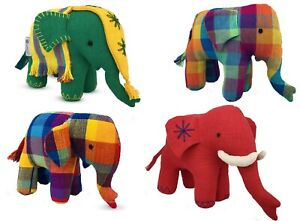 Elephant Plush Toy Handcrafted Home Room Shop Interior Decoration Soft Toy Gift
