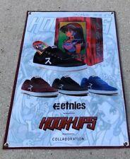 Hook Ups poster Etnies skateboard shoes canvas vinyl banner anime character