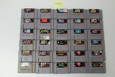 30 Super Nintendo SNES Games Final Fantasy II & III, 7th Saga, Batman & Robin