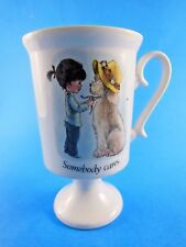 Fran Mar Moppets Coffee tea Mug Cup Somebody Cares  Genuine Porcelain  1974
