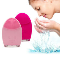 Electric Sonic Vibration Facial Cleansing Brush Face Cleaner Deep Pore Cleaning