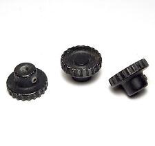 3x botón de metal/Metal-botón, 25 x 15 mm, estriado, para 4.8 mm ejes