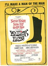 """I'LL MAKE A MAN OF THE MAN"" WALKING HAPPY PIANO/V/GUITAR SHEET MUSIC-RARE-NEW!!"