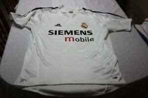 Maillot Real Madrid Vintage Marque Adidas Taille L Publicid Siemens Mobile Shirt