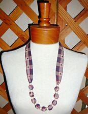NECKLACES~FABRIC & BEAD~JULY 4th-PATRIOTIC~Reversible~Washable~Designs Vary~NEW