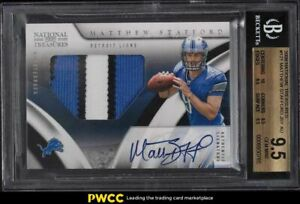 2009 National Treasures Matthew Stafford ROOKIE RC PATCH AUTO /99 #121 BGS 9.5