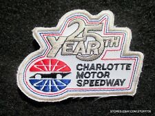 """CHARLOTTE MOTOR SPEEDWAY PATCH 25 NASCAR RACE CONCORD NC  3 1/2"""" x 2 1/2"""""""