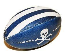 Polo Ralph Lauren Rugby Vintage Rare Skull Crossbones Football Blue White