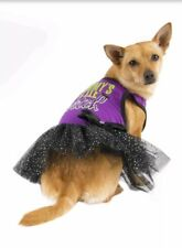 Dog Halloween Costume Mommys Little Witch Purple Tutu Dress S Bling Sparkle New