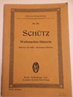 """Heinrich Schütz : """" Weihnachts-Historie """"  - Studienpartitur"""