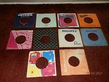10 x 1960's, 70's Company Sleeves -Vintage Original 45rpm 7inch Record Covers 3