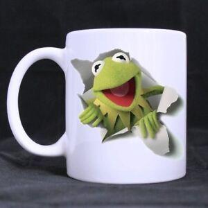 Kermit The Frog 11 OZ White Mug 100% Ceramic Coffee/Tea White Cup