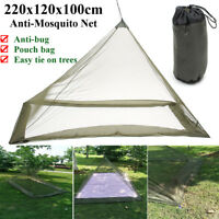 Outdoor Mosquito Insect Net Tent Canopy Single Camping Bed Lightweight Compact