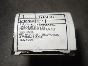 (RR13-5) 1 NIB LEVITON 4700-IG ORANGE DUPLEX RECEPTACLE