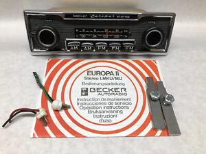 5 Button Classic Becker Europa II Stereo Radio Mercedes Porsche Restored