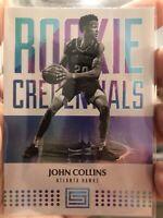 2017-18 Panini Status Credentials John Collins #30 Rookie Rc Insert Hawks