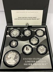 2019 and 2020 US Mint Limited Edition Silver Proof Set  (2 Box Set)
