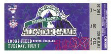 1998 MLB ALL STAR GAME AUTHENTIC TICKET COORS FIELD BROOKS ROBINSON SIGNED (510)
