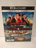 Spider-Man Homecoming & Spider-Man Far From Home - Coffret de 2 Blu Ray 4k Neuf