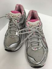 Asics GT-2150 Women's Running Training Shoes Size 7.5 Silver/Coral/Wht T054N GUC