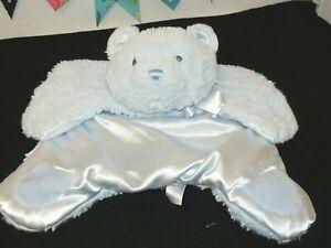 Baby Gund Comfy Cozy Blue First Teddy Bear Plush Security Blanket Mat 4053936
