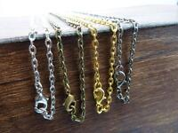 10pcs Wholesal 50cm/70cm Width 3x4mm Iron Chains with Alloy Clasp-Finished chain