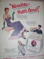 Kensitas cigarettes art advert 1952