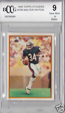 RARE 1985 Topps Walter Payton #156 Sticker Card BCCG Graded 9