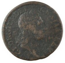 1723 1/2 Penny $.005 Hibernia Brown Color, Fine Condition, Some Porosity