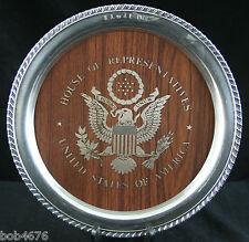 "US House of Representatives Silver Tray 12"" Wm A Rogers Silverplate Memorabilia"