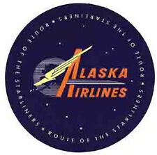 Alaska Airlines   Vintage Looking  1950's  Sticker Decal Luggage Label