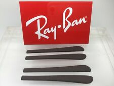 2 Pairs of Authentic Rayban Brown Round end Temple / Ear Tips Covers BRAND NEW