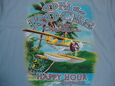On The Rocks Island Charters Happy Hour Express Vacation Souvenir T Shirt 2XL