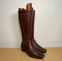 Pikolinos Women's Brown Leather Knee High Boots Size UK 6 EUR 39