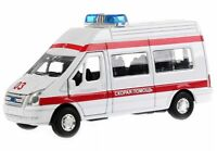 Toy car Ford Transit collectable model ambulance inertial mechanism sound