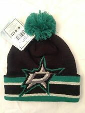 Dallas Stars NEW Kids (4-7) Cuffed Winter Hat w Pom . NHL Hockey Boy Girl Warm