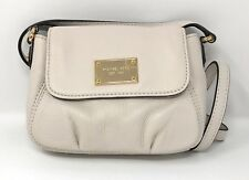 NWT MICHAEL KORS Jet Set Item Leather Small Flap Crossbody Bag in Vanilla