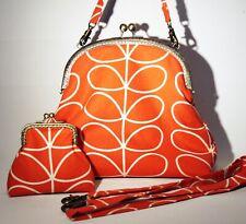 Orla Kiely Handbag & Purse Set 60s 70s retro handmade bag Tomato Linear Stem