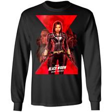 Black Widow American Women Avenger Men's Long Sleeve Tee Shirt
