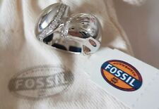 BNWT FOSSIL LADIES GORGEOUS STERLING SILVER DIAMANTE RING SIZE 180*L@@K*RRP £105