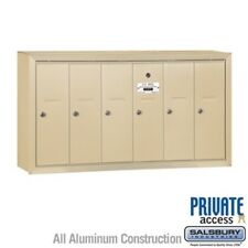 Vertical Mailbox 6 Doors Sandstone Surface Mounted Private Access Mailer 3506SSP
