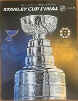 2019 STANLEY CUP PROGRAM NATIONAL HOCKEY LEAGUE NHL ST LOUIS BLUES BOSTON BRUINS