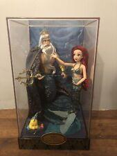 New ListingDisney Store Le Designer Fairytale Collection Ariel & King Triton Doll set